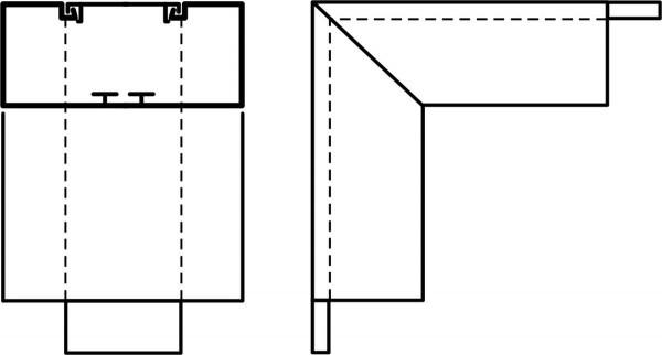 Außenwinkel 90° f. 130x60