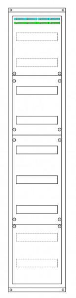 1 Verteiler 9-reihig Maße: (H x B x T) 1450 x 300 x 210 mm
