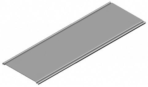 für Gitterrinne 200mm x 2.000mm, VPE 10mtr.