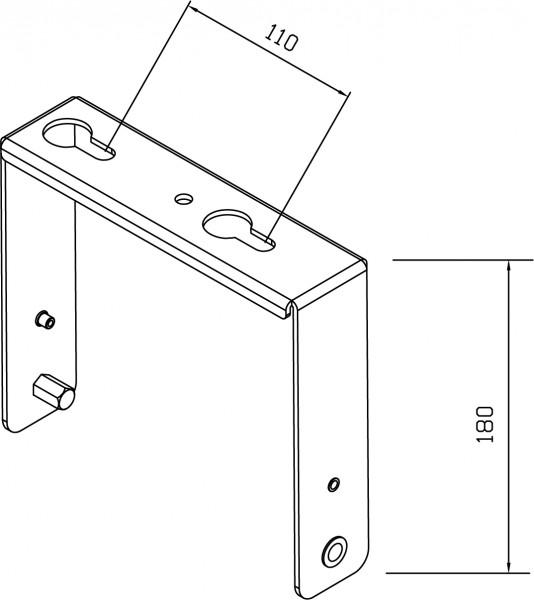 HBS Montagebügel zur Wand und Deckenmontage