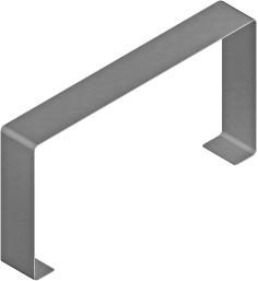 Stoßstellen Abdeckung, weiß, für BK Metall Kanal 130