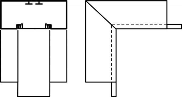Innenwinkel 90° f. 130x60