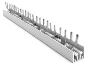 3Phasen Phasenschienenblock, 210mm Gabel inkl. Kupfer