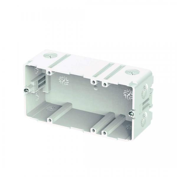 Einbaudoppeldose für BK Kunststoffkanal 110 & 130mm