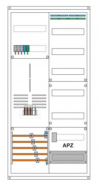 Zählerschrank 1 ZP 3Hz komplett bestückt ETI