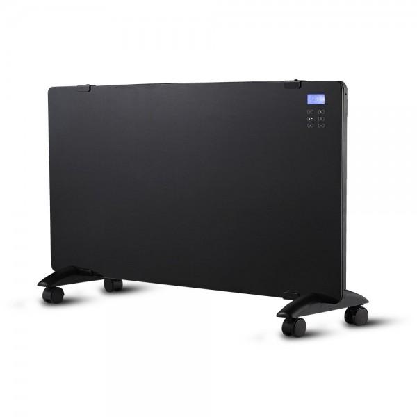 Glaskonvektor mit Display, schwarz