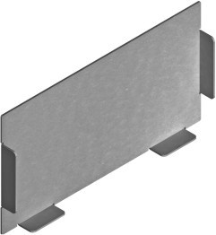 Endkappe, weiß, für BK Metall Kanal 170