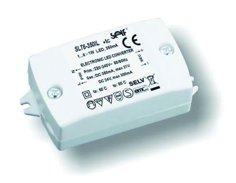 Driver 6W 24V 350ma 60x40x20mm, für Power LED 1W