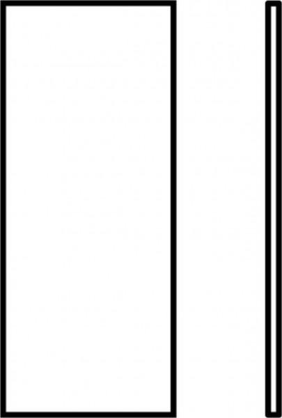 Endplatte f. 130x60 reinweiß, VPE 10