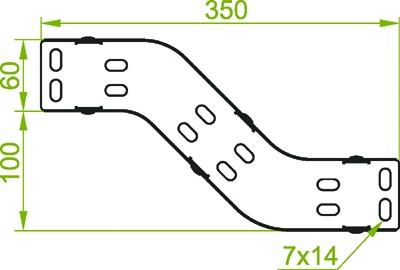 für Kabelrinne 300mm, Vertikale Umgehung