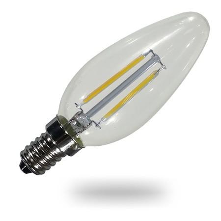 E14 Kerze LED 4 ersetzt 40W, dimmbar, 400lm, 3000K, 300°, 20.000h, incl. WEEE