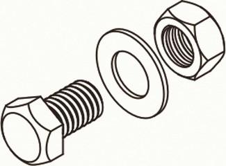 Set M10x20, für Zubehörteile, Sechskantschraube VPE 100 St.
