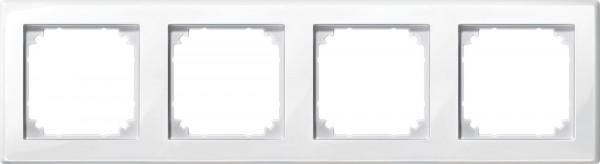 M-Smart Rahmen 4 Fach, polarweiß glänzend