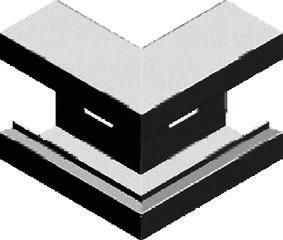 Aussenwinkel, weiß, für BK Metall 130